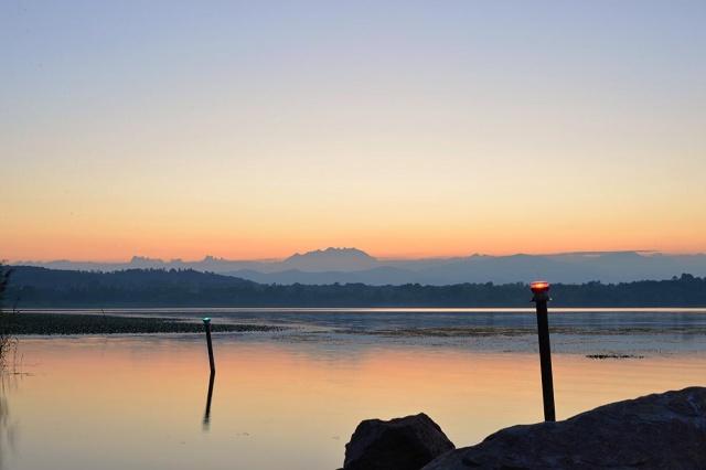 Lago di Varese visto da Cazzago Brabbia