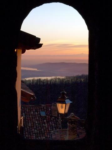 Il Monviso al tramonto