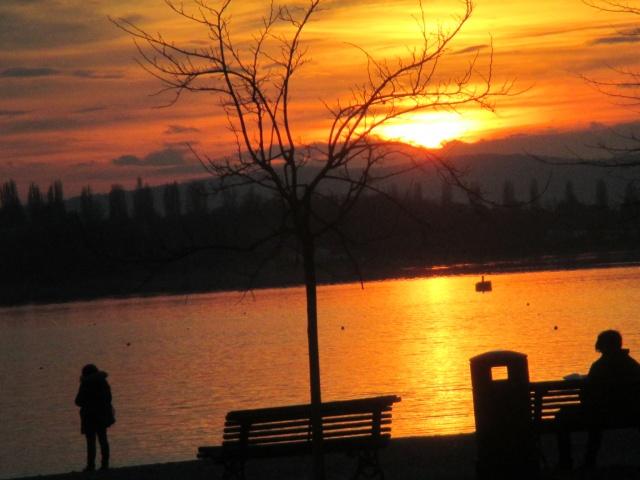 I famosi tramonti alla Schiranna